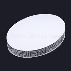 présentoirs à bijoux ovales en verre organique, blanc, 30x20x3 cm(ODIS-N019-04D)
