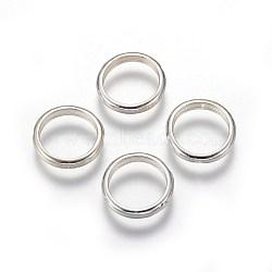 Cadres de perles en argent sterling, anneau, argenterie, 12x2mm, trou: mm 0.8; 10 mm de diamètre intérieur(STER-E062-06S)