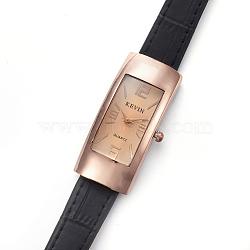 наручные часы высокого качества, кварцевые часы, Головка из сплава и ремешок из искусственной кожи, черный, 8-3 / 4 (22.1 см); 13x2 мм; головка часов: 45x22x10 мм(WACH-I017-04D)