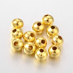 Iron Beads, Golden, 8mm, hole: 3mm(X-E188Y-G)