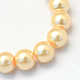 Baking Painted Pearlized Glass Pearl Round Bead Strands(X-HY-Q330-8mm-61)-2