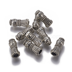 Alloy Beads, Antique Silver, 18.5x7.5mm, Hole: 1.5~4.5mm(PALLOY-I127-08AS)
