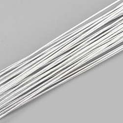 Iron Wire, Floral Wire,  for Florist Flower Arrangement, Bouquet Stem Warpping and DIY Craft, WhiteSmoke, 26 Gauge, 0.4mm; 40cm/strand; 100strand/bag(MW-S002-03F-0.4mm)