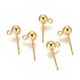 Golden Stainless Steel Stud Earrings(STAS-I120-16C-G)