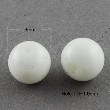 6mm WhiteSmoke Round Glass Beads