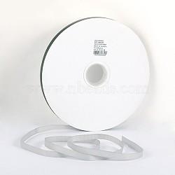 """Ruban polyester gros-grain, gris clair, 3/8"""" (9.5 mm); environ 100yards / rouleau (91.44m / rouleau)(SRIB-D014-B-009)"""