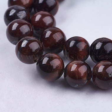 Natural Red Tiger Eye Stone Bead Strands(X-G-R193-08-8mm)-3