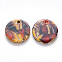 Colorful Flat Round Cellulose Acetate Pendants(X-KY-S161-018B-14)