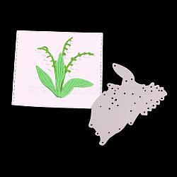 cadre de gazon en acier au carbone meurt pochoirs, pour bricolage scrapbooking / album photo, carte de papier de bricolage décoratif, matte platine, 6.8x4.9x0.08 cm(DIY-F028-20)