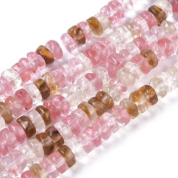 Tigerskin Glass Beads Strands, Column, 4.5~5x2~2.5mm, Hole: 0.6mm; about 171pcs/strand, 15.35inches~15.55inches(39~39.5cm)(G-I265-06)