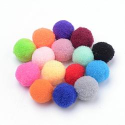 bricolage poupée, boule de pom pom de polyester, arrondir, couleur mélangée, 18~19 mm(X-AJEW-T001-20mm-M)