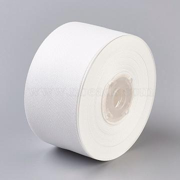 Rayon and Cotton Ribbon, Twill Tape Ribbon, Herringbone Ribbon, White, 1-1/2inches(38mm); about 50yards/roll(45.72m/roll)(SRIB-F007-000-38mm)
