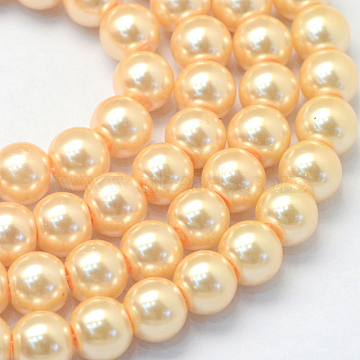 8mm Moccasin Round Glass Beads