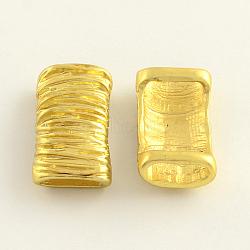 perles de tubes en alliage, sans nickel, or, 26x14x8 mm, trou: 11x3 mm(X-PALLOY-R044-02-NF)