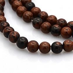 "Acajou naturel perles rondes obsidienne brins, 4mm, trou: 1mm; environ 102 pcs/chapelet, 15.7""(G-N0120-20-4mm)"