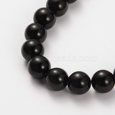 Natural Gemstone Obsidian Round Beads Strands(X-G-O030-6mm-08)-2
