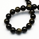 Natural Golden Sheen Obsidian Round Beads Strands(X-G-S157-6mm)-2