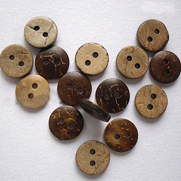 Smart Round 2-Hole Buttons, Coconut Button, BurlyWood, 13mm, Hole: 2mm; about 200pcs/bag(NNA0Z1U)