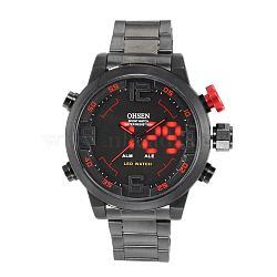 Мода из нержавеющей стали мужские наручные часы электронные, красные, 70 мм(WACH-I005-07E)