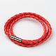Braided Imitation Leather Cord Wrap Bracelets(BJEW-L566-02B)-1