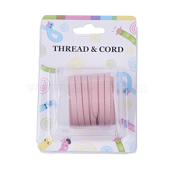 Faux Suede Cord, Faux Suede Lace, Pink, 5x1.5mm; about 5m/roll(X-LW-R003-5mm-1038)