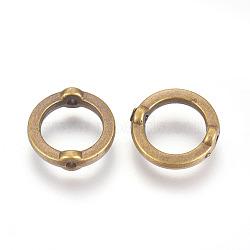 CCB Plastic Bead Frame, Ring, Antique Bronze, 14x4mm, Hole: 1.6mm(CCB-E058-15AB)