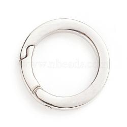 304 Stainless Steel Spring Gate Rings, O Rings, Stainless Steel Color, 28x3.5mm; Inner Diameter: 20mm(STAS-I133-14B)