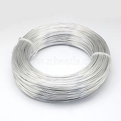 Fil d'aluminium, argenterie, 20 jauge, 0.8mm; 300m / 500g(AW-S001-0.8mm-01)