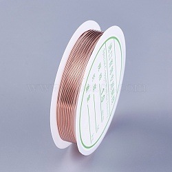 Copper Wire, Rose Gold, 18 Gauge, 1mm; 1.5m/roll(YS-TAC0001-01C-RG)