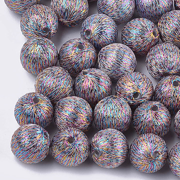 17mm Colorful Round Polyester Beads