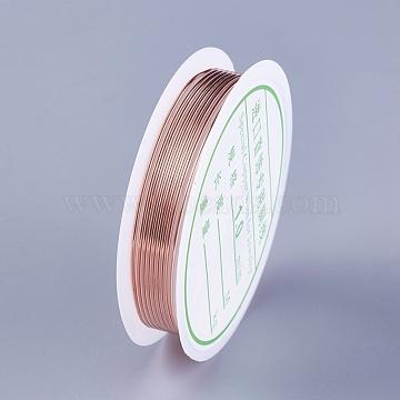 Fil de cuivre, or rose, 1 mm; environ 1.5 m/rouleau(YS-TAC0001-01C-RG)