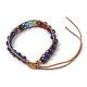 Natural Lapis Lazuli Cord Beaded Bracelets(BJEW-E351-02H)-2