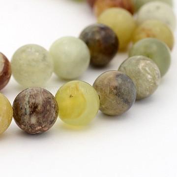 8mm Round Xiuyan Jade Beads