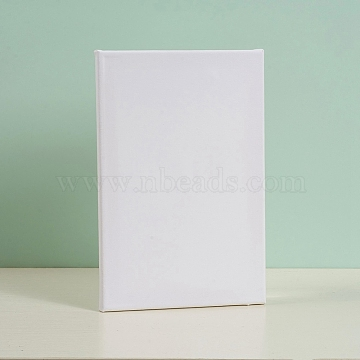 Painting Cotton Panels, with Board Core, for Acrylic, Oil Drawing, Rectangle, White, 30x20x1.6cm(DIY-G019-12A)