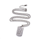 304 Stainless Steel Split Initial Pendant Necklaces(NJEW-L152-03F)-1