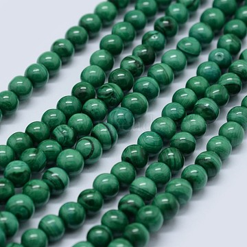 16mm Round Malachite Beads