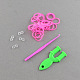 DIY Fluorescent Neon Rubber Loom Bands Refills with Bands and Accessories(X-DIY-R010-02)-2