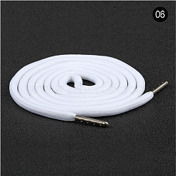 Polyester Drawstring Cord, For Garment Accessories, White, 1300x5mm(X-AJEW-WH0043-07A)