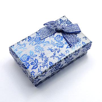 LightSkyBlue Rectangle Cardboard Jewelry Set Box