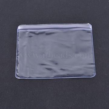 Sacs rectangulaires en PVC à fermeture à glissière, top phoques sacs minces, clair, 6x4 cm; épaisseur unilatérale: 0.2 mm; environ 100 pcs / sac(X-OPP-O004-4x6cm)