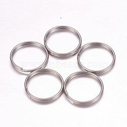 304 Stainless Steel Split Rings, Stainless Steel Color, 16x2mm; 14mm inner diameter(X-STAS-F117-33P)