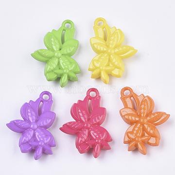 Mixed Color Flower Acrylic Pendants