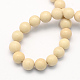 Natural Fossil Round Beads Strands(G-S171-12mm)-2