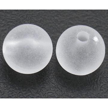 14mm White Round Acrylic Beads