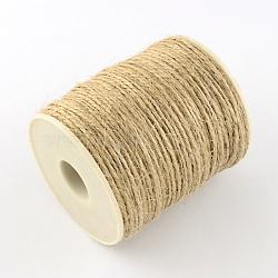 Corde de chanvre, pour la fabrication de bijoux, tan, 1~2 mm; environ 100 m/rouleau(OCOR-R036-01)
