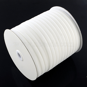 1/4inch Single Face Velvet Ribbon, White, 1/4inch(6.5mm); about 200yards/roll(182.88m/roll)(OCOR-R019-6.5mm-001)