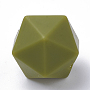 Olive Drab Polygon Silicone Beads(SIL-T048-17mm-49)