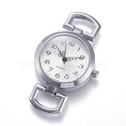 Composants en alliage watch watch watch, plat rond, platine, 49x29x9mm, Trou: 10x5.5mm(WACH-P005-01)