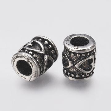 Antique Silver Column Stainless Steel European Beads