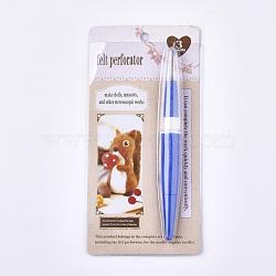 ABS Plastic Punch Needle, Blue, 155x18x16mm(TOOL-T006-23B)